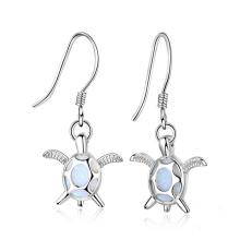 New Fashion Opal Earring Turtle Shaped jewelry Opal Stone Earrings for Girl