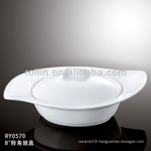 healthy japan style white special durable soup bowl with cover