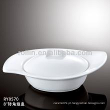 Estilo japonês saudável estilo branco tigela de sopa durável especial com tampa