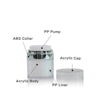 30g acrylic airless cream jar
