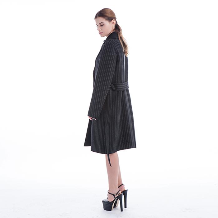 Fashionable Stripe Winter Coat