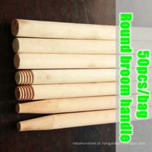 Maçaneta de vassoura redonda, punho de vassoura redonda de madeira, alça de vassoura de madeira redonda