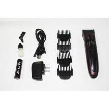 Tosquiadeira de cabelo Display LED, bateria recarregável para homens aparador