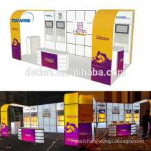 Detian Offer 10x20ft aluminum tube & tension fabric lighting exhibition stand
