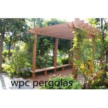 Подгонянная современная деревянная беседка WPC Cabana Оптовая цена Пергола