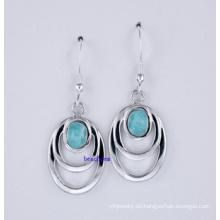 Schmuck-Larimar Silber Ohrring (LE00038)