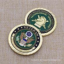 Hohe Menge Gewohnheit uns Armee-Gold überzogene Münze