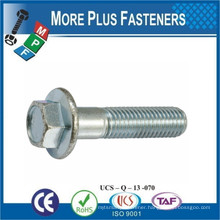 Made in Taiwan Hexagon Head With Serration Flange Screw DIN 6921 Stainless Steel A2
