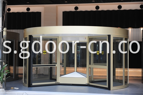 Deformed Four-wing Automatic Revolving Doors for Entrances