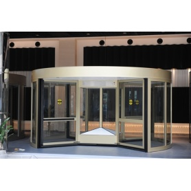 Commercial Four-wing Revolving Doors dengan Speed ​​Control