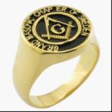 18k Plated Gold Fashion Masonic Ring