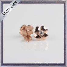 Beautiful Flower Shape Rose Gold Earring Jewelry