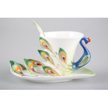 Ceramic Peacock Tea Set Cup