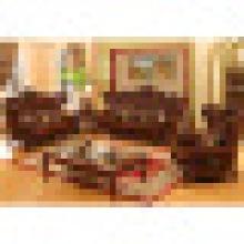 Holz Ledersofa Set für Wohnmöbel (525)
