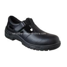 Sapato de trabalho de sandália de couro liso (HQ01031)