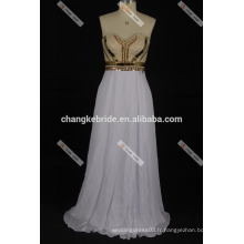 Lovely Two-Piece Beaded Off Shoulder A Line Satin Robes de bal 2017