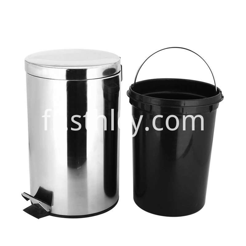 Metal Pedal Stainless Steel Trash Can