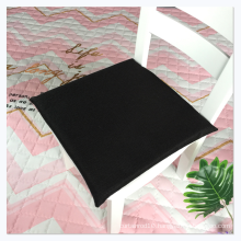 Customized logo hard cotton cushion linen square chair seat cushion for student