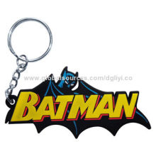 Custom Advertising Soft PVC Logo Keychain, Eco-friendly High Quality for Promotion