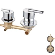 Factory price  3 way brass sanitary ware basin faucet mixer shower bathroom tap