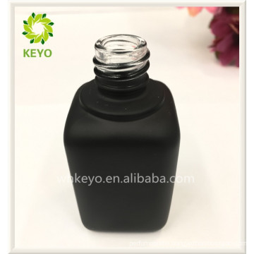 Cosmetic packing glass oil dropper square skincare bottle with screen printing