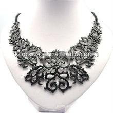 Retro schwarze Weinlese klumpige Halskette