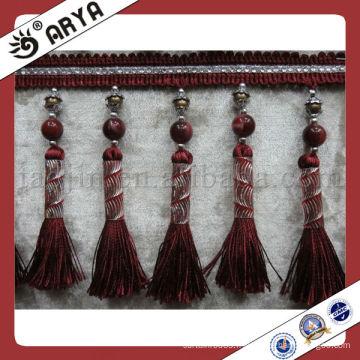 Vente en gros de haute qualité perle en perles colorées, Frange Tassel