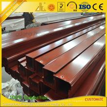 Profils en aluminium d'extrusion de haute qualité pour des portes avec des couleurs en bois