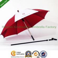 Unzerbrechlichen doppelten Zweck Spazierstock Schirm für ältere (SU-0023AAFH)