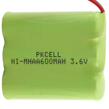 pkcell 3.6v 600mAh AA NI-MH rechargeable batteries pack with factory price