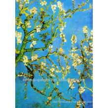 Pintura al óleo popular de la lona del flor del ciruelo para la decoración