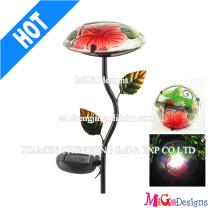 Mushroom Metal Light Outdoor Stake Garden Solar Lights