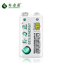Geilienergy forte tensão melhor 280 mah 9 v nimh bateria recarregável para brinquedo