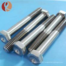 Perno de titanio hexagonal del perno de titanio DIN933 de la venta caliente m7