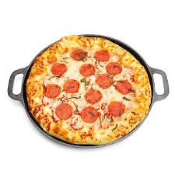 Cuisinière ronde en fonte de 14 pouces Panière à pizza