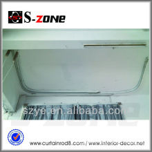 Euro standard outlet big angle curved motorized curtains with customize project design
