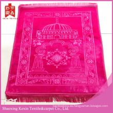 visón grueso nuevo color rosa estera musulmana oración