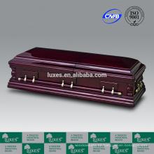 LUXES alta calidad ataúdes de madera gran tamaño ataúd para el entierro