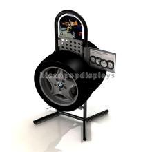 Automotive Tire Retail Store Freie Standing Custom Metall Portable Single Layer Reifen Rack Display
