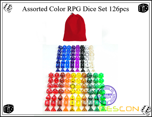 Assorted Color RPG Dice Set 126pcs