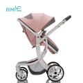 Детская коляска 2-в-1 Трансформируемая люлька Спальная коляска, складная коляска с 5-точечным ремнем безопасности
