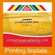 latas de empaquetado de la impresión