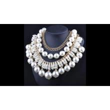Frauen Modeschmuck 18K Gold Halskette Designs, Edelstahl Halskette Hochzeit Gold Halskette Designs in 10 Gramm