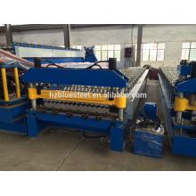 Gewölbte Dachblechherstellungsmaschine, Aluminiumdachplattenherstellungsmaschine, Niedrige Preis-Metalldach-Fliesenherstellungsmaschine