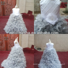 NW-472 Charming Beaded Top with Feather Skirt Party Dress Flower Girl Dress