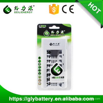 GLE-808 AAA AA Fast Battery Charger For NICD NIMH Battery 8 Slots