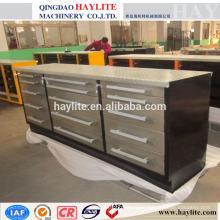 banc de travail en acier avec tiroirs établi en acier inoxydable établi de service lourd