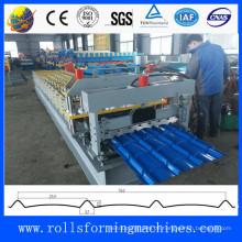 Neue Art Stahlblech glasierte Fliese Rollformmaschine