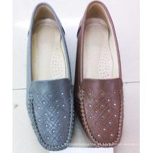 Zapatos clásicos Comfort Lady con suela plana TPR (Snl-10-073)