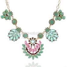 Лист формы цветок смолы маркиза бусы ожерелье цепь для красоты